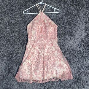 Nude/Pink Sparkly Dress